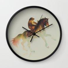 Sloth Riding a Horse Wall Clock