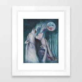 Moon Howl Framed Art Print