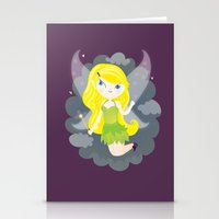 fairy Stationery Cards featuring Fairy by Maria Jose Da Luz