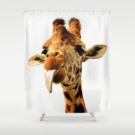 Fanny giraffe Shower Curtain