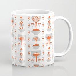 Floral Scandi Folk Art Vector Pattern Coffee Mug