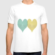 True Love MEDIUM White Mens Fitted Tee