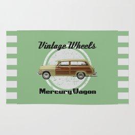Vintage Wheels: Mercury Wagon (black) Rug