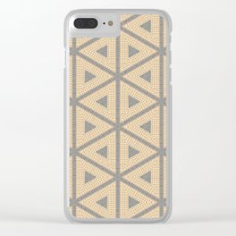 Textured Tile Triangle Pattern Design Clear iPhone Case