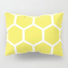 Honeycomb pattern - lemon yellow Pillow Sham