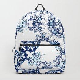 blue garden mandala Backpack