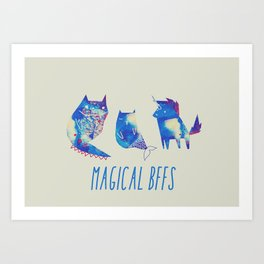 magical bffs Art Print