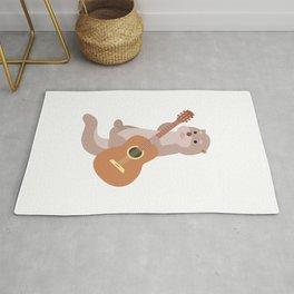 Otter Musician Guitar Guitarist Rug
