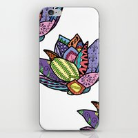 lotus flower iPhone & iPod Skins featuring Lotus by Ilse S