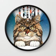 Feline Forest Wall Clock