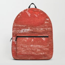 Indian red colorful wash drawing Backpack