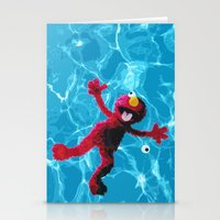 elmo Stationery Cards featuring Elmo by DandyBerlin