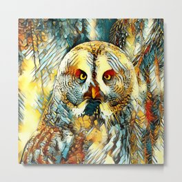AnimalArt_Owl_20170602_by_JAMColorsSpecial Metal Print
