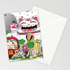 Maneki-neko in the magical world Stationery Cards