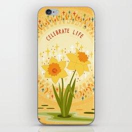 Celebrate life iPhone Skin