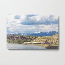 Along the Yellowstone Metal Print