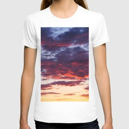 Sunset Clouds Red Blue Yellow T-shirt