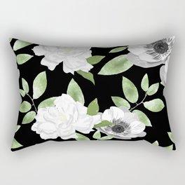 Gardenias & Anemones Rectangular Pillow