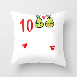 10th Anniversary Great Pear Tenth Wedding design Throw Pillow