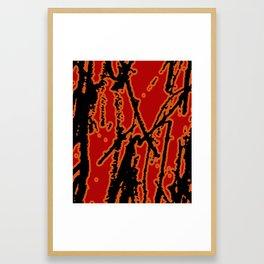 Vivid Abstract Grunge Texture Framed Art Print