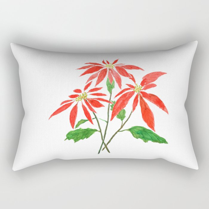 christmas flower Rectangular Pillow