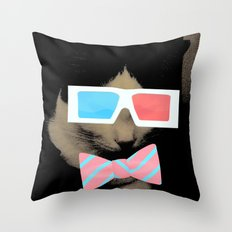 Hip Cat Throw Pillow