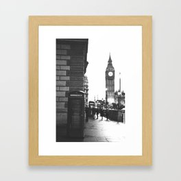 Big Ben and Phone booth Framed Art Print