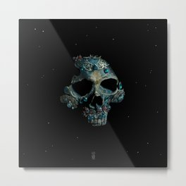 Holy Starman Skull Metal Print