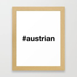 AUSTRIA Framed Art Print