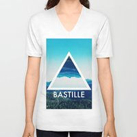 bastille V-neck T-shirts featuring BASTILLE by Hands in the Sky
