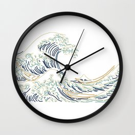 Minimal Wave Wall Clock