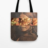 native Tote Bags featuring Native by Djuno Tomsni