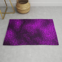 Stained glass texture of snake violet leather with light heat spots. Rug