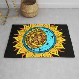Sun and Moon Mandala Rug