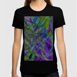 Colorful Abstract Stained Glass G301 T-shirt