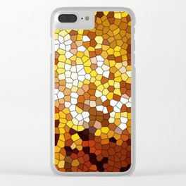 The glowing sun stained glass Clear iPhone Case