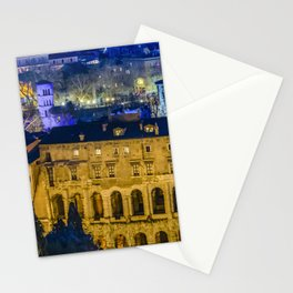 Night Scene Rome Cityscape Aerial View Stationery Cards