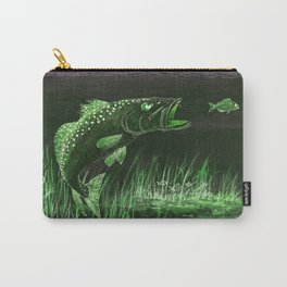 Trout Attack In Green Carry-All Pouch