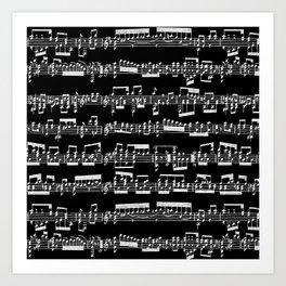 Sheet Music // Black Art Print