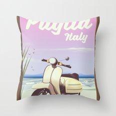 Puglia, Italy Beach travel poster Throw Pillow