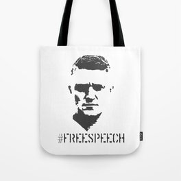 Hashtag Free Speech Free Tommy Britain Political Justice Tote Bag