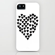 Hearts Heart Black and White iPhone (5, 5s) Slim Case