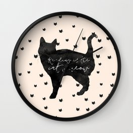 Reading Is The Cat's Meow Wall Clock