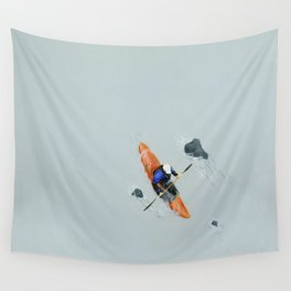 Solitude- Kayaker Wall Tapestry