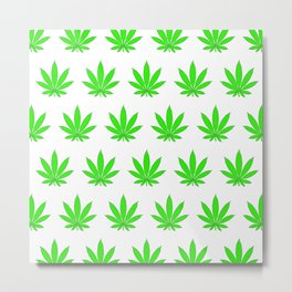 Marijuana Leaves Metal Print
