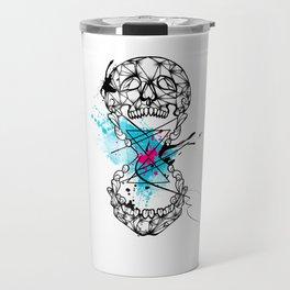 Abstract skull Travel Mug