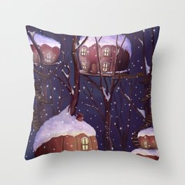 Chestnut Tree Village Throw Pillow