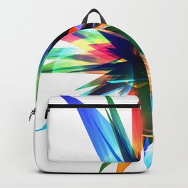 Colorful abstract star Backpack