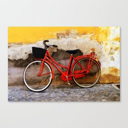 The Red Bicycle Canvas Print