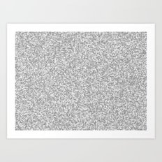 grayscale treemap mosaic Art Print